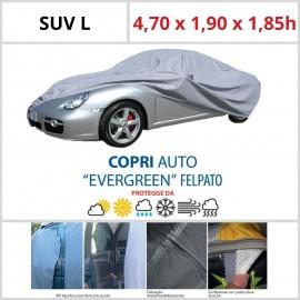 Copriauto SUV L - 4,70 x 1,90 x 1,85h - Felpato in Materiale Speciale Con Zip Portiera lato guida