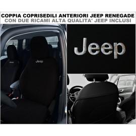 Coppia Coprisedili Specifici Jeep Renegade Fodere Foderine Solo Anteriori VARI COLORI