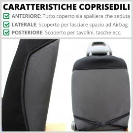 Coppia Coprisedili Specifici Dacia Sandero Fodere Foderine Solo Anteriori VARI COLORI