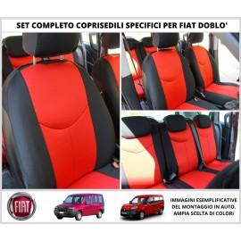 Set Coprisedili Adattabili Fiat Doblo Fodera Fodere Foderine Complete Vari Colori