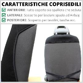 Coppia Coprisedili Specifici Alfa Romeo Giulietta Fodere Foderine Solo Anteriori VARI COLORI