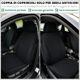 Coppia Coprisedili Specifici Alfa Romeo Giulia Fodere Foderine Solo Anteriori VARI COLORI