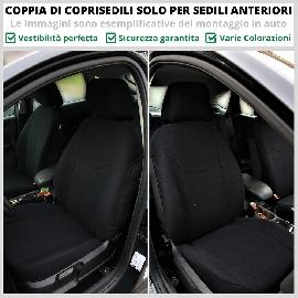 Coppia Coprisedili Specifici Audi A3 Fodere Foderine Solo Anteriori VARI COLORI