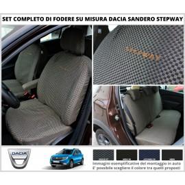 FODERE COPRISEDILI Su Misura in Cotone per Dacia Sandero Stepway Fodera FODERINE COMPLETE VARI COLORI