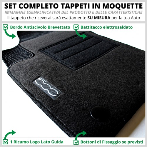 Tappeti Tappetini Su Misura Set Completo Alfa Romeo BRERA (05 fino a 10) - 1
