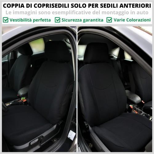 Coppia Coprisedili Specifici Fiat Qubo Fodere Foderine SOLO ANTERIORI VARI COLORI