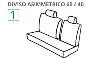 Posteriore Diviso 60-40