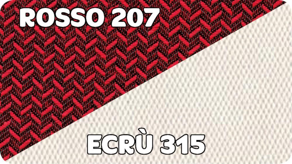 Rosso 207-Ecru 315