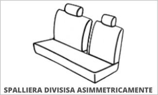 Spalliera Posteriore Divisa Asimmetricamente